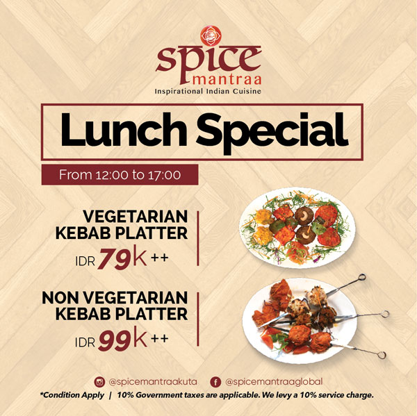 spicemantra-kuta-special-lunch